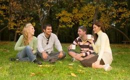 Fun. A group of teens having fun at the park Stock Photos