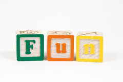 Fun. In block letters stock image