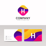 Fun abstract colorful shape H letter logo icon sign vector desig Stock Photo