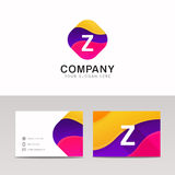 Fun abstract colorful shape Z letter logo icon sign vector. Abstract colorful shape Z letter logo icon sign vector design Stock Photos