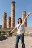 Fun at ancient ruins Royalty Free Stock Image