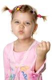 Fun angry girl royalty free stock image