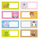 Fun animal stickers Stock Images