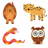 Fun animals set Royalty Free Stock Photo