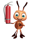 Fun Ant cartoon character with  fire extinguisher. 3d rendered illustration of Ant cartoon character with  fire extinguisher Royalty Free Stock Photo
