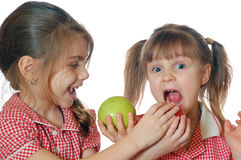 Fun apples Stock Photo