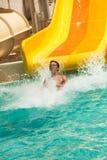 Fun in aquapark Royalty Free Stock Photo