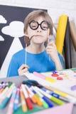 Fun during art classes Royalty Free Stock Photo