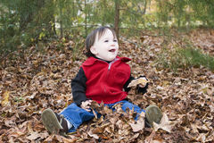 Fun in autumn Royalty Free Stock Photography