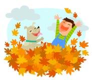 Fun of autumn Stock Image