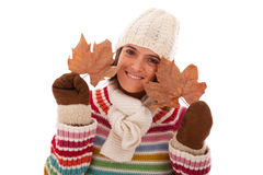 Fun at autumn season Royalty Free Stock Photo
