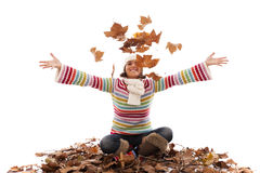 Fun at autumn season Royalty Free Stock Image