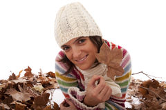 Fun at autumn season Stock Images