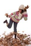 Fun at autumn season Royalty Free Stock Photos