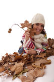 Fun at autumn season Stock Image