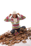 Fun at autumn season Stock Photo