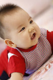 Fun baby. A baby is playing and laughing Stock Photography
