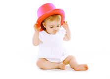 Fun baby in hat Royalty Free Stock Photo