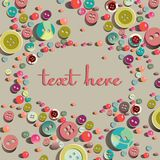Fun background with buttons Royalty Free Stock Photo