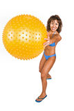 Fun with ball Stock Photography