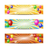 Fun balloons banners Royalty Free Stock Image