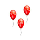 Fun balloons  the sale. Royalty Free Stock Image