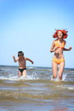 Fun on the beach Stock Images