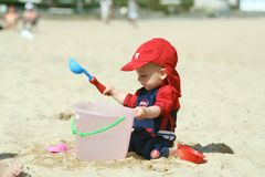 Fun on the beach Royalty Free Stock Photography