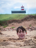 Fun at the beach Royalty Free Stock Photo