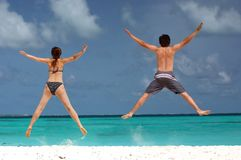 Fun on the beach Stock Photography