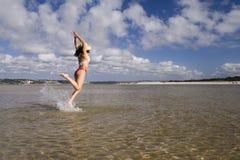 Fun at the beach Stock Photos