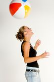 Fun with the beach ball Royalty Free Stock Photography