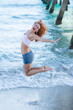 Fun on the beach in Florida Royalty Free Stock Photo