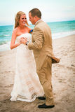 Fun Beach Weding Stock Photos