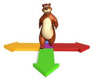 Fun Bear cartoon character Royalty Free Stock Photography