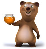 Fun bear. 3d generated illustration Royalty Free Stock Images