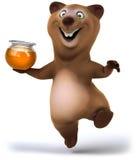 Fun bear. 3d generated illustration Stock Photography