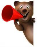 Fun bear. 3d generated illustration Royalty Free Stock Image
