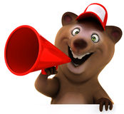 Fun bear. 3d generated illustration Royalty Free Stock Photography