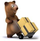 Fun bear. 3d generated illustration Stock Image