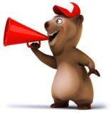 Fun bear. 3d generated illustration Royalty Free Stock Photos