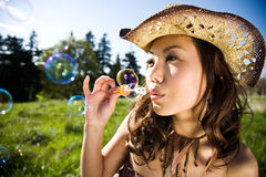 Fun beautiful summer girl Royalty Free Stock Images