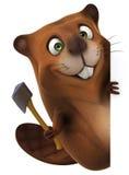 Fun beaver Stock Photo