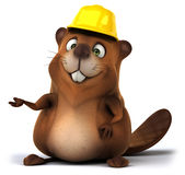 Fun beaver Stock Photography