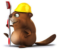 Fun beaver Royalty Free Stock Photography
