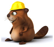 Fun beaver Royalty Free Stock Images