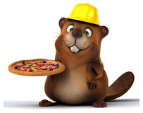 Fun beaver Stock Photo