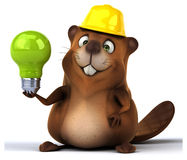 Fun beaver Royalty Free Stock Photography