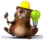 Fun beaver Stock Image
