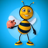 Fun bee Royalty Free Stock Image